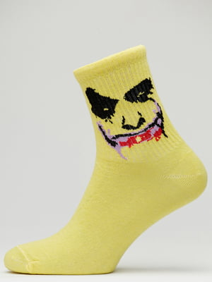 Носки желтые с рисунком | 5631209