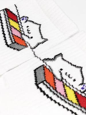 Носки белые с рисунком | 5631259
