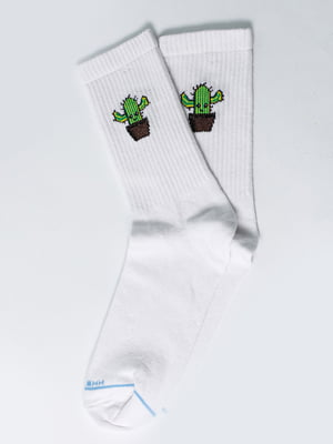 Носки белые с рисунком | 5631266
