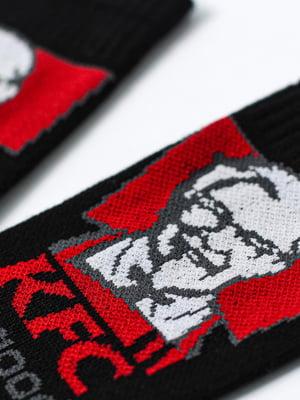 Носки черные с рисунком   5631276