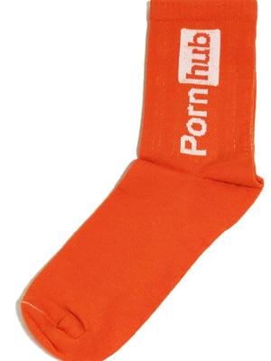 Носки оранжевые с надписью   5631290