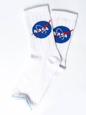 Носки белые с рисунком | 5631312
