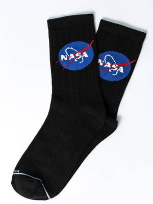 Носки черные с рисунком | 5631313
