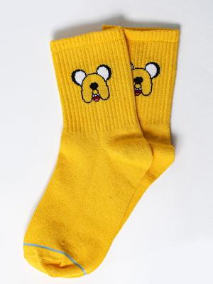 Носки желтые с рисунком | 5631340