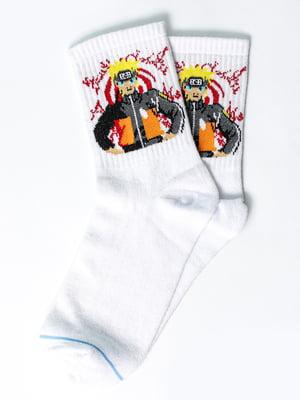 Носки белые с рисунком | 5631349