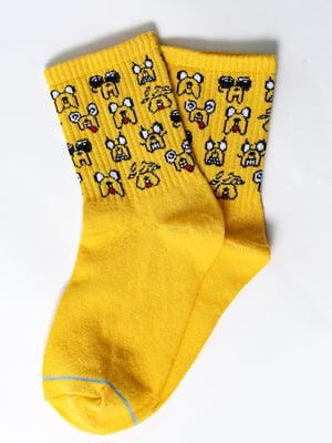 Носки желтые с рисунком | 5631354
