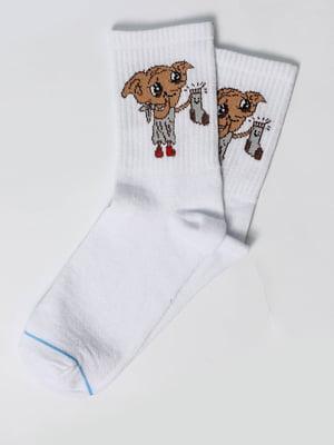 Носки белые с рисунком | 5631365