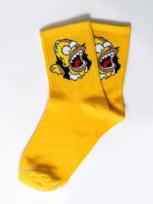 Носки желтые с рисунком | 5631373