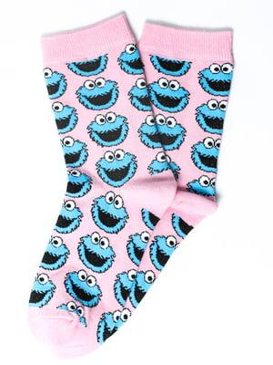 Шкарпетки рожеві з малюнком | 5631379