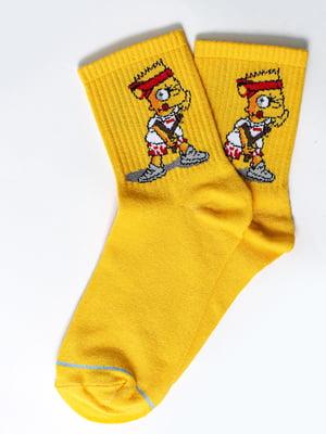 Носки желтые с рисунком | 5631381