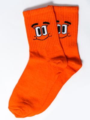 Носки оранжевые с рисунком   5631389