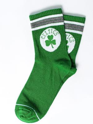 Носки зеленые с рисунком | 5631390
