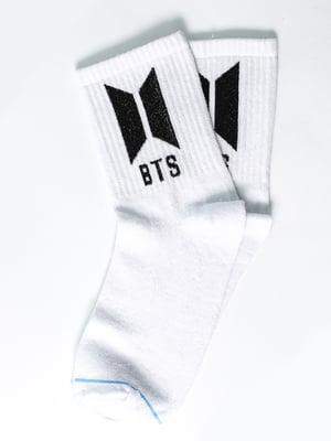 Носки белые с рисунком | 5631395