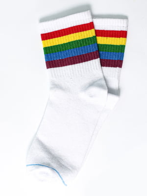 Носки белые в полоску | 5631396