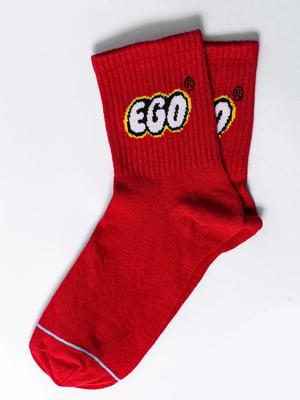 Шкарпетки червоні з малюнком | 5631398