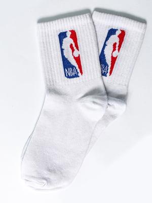Носки белые с рисунком | 5631400