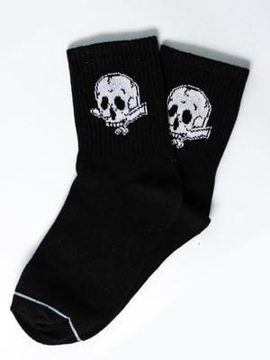 Носки черные с рисунком | 5631403