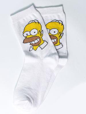 Носки белые с рисунком | 5631406