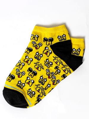 Шкарпетки жовті з малюнком | 5631408