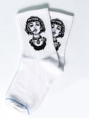 Носки белые с рисунком | 5631358