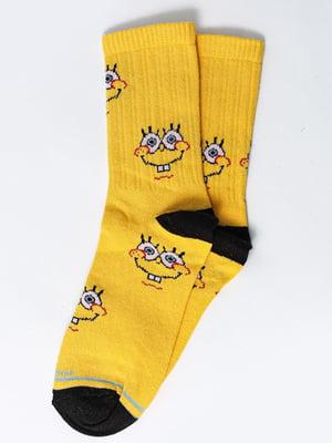 Носки желтые с рисунком | 5631297