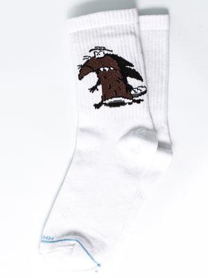 Носки белые с рисунком | 5631288