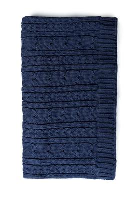 Шарф синій з візерунком | 5631640