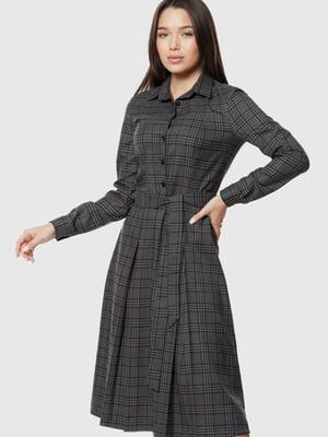 Платье серое в клетку | 5631653