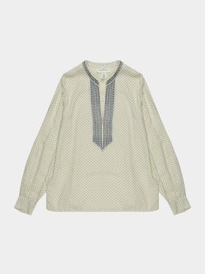Рубашка белая с орнаментом | 5631692
