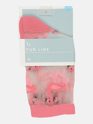 Носки капроновые двухцветные с рисунком | 5631748