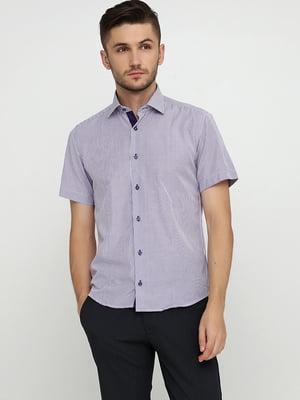 Рубашка сиреневого цвета в полоску | 5631799