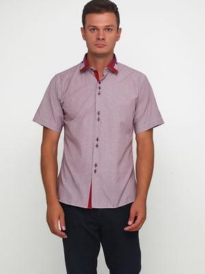 Рубашка бордовая в полоску | 5631802