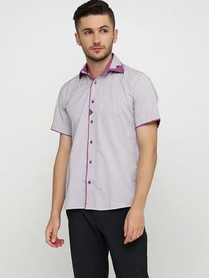 Сорочка біло-рожева в смужку | 5631803