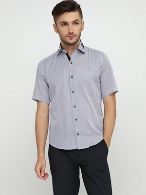 Сорочка біло-синя в смужку | 5631813
