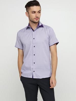 Рубашка сиреневого цвета в клетку | 5631833