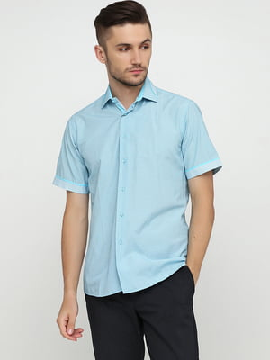 Рубашка голубая в клетку | 5631831