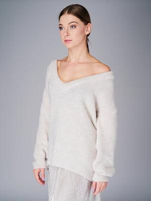Пуловер молочного кольору | 5632334