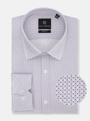 Рубашка белая в принт   5633061
