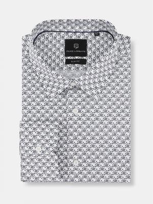 Сорочка біла в квітковий принт | 5633073