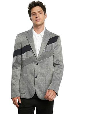 Пиджак серый с декором | 5630164