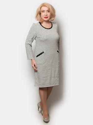 Сукня біло-чорна в смужку | 5632970