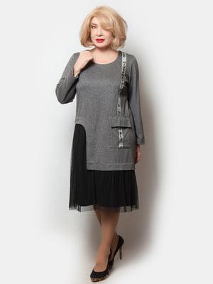 Сукня сіро-чорна | 5633031