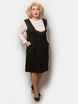 Платье розово-черное   5633037