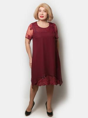 Платье бордовое | 5633042