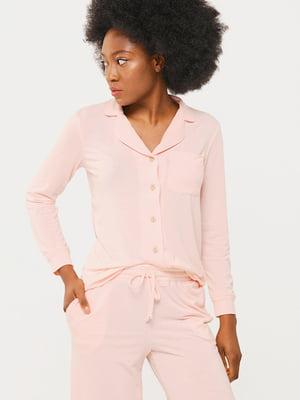Рубашка цвета пудры | 5633199