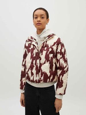 Куртка двоколірна в принт   5635001