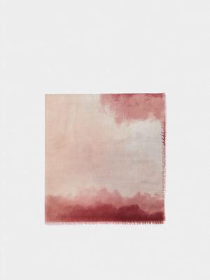 Шарф розовый в принт | 5635230