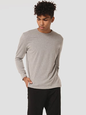 Лонгслив светло-серый | 5635672
