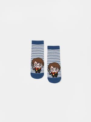 Шкарпетки в смужку з малюнком | 5635340