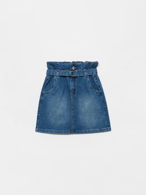 Спідниця синя джинсова | 5635476